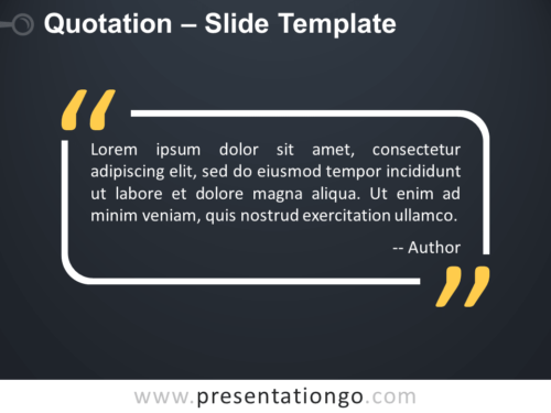 Free Outlined Quotation for PowerPoint