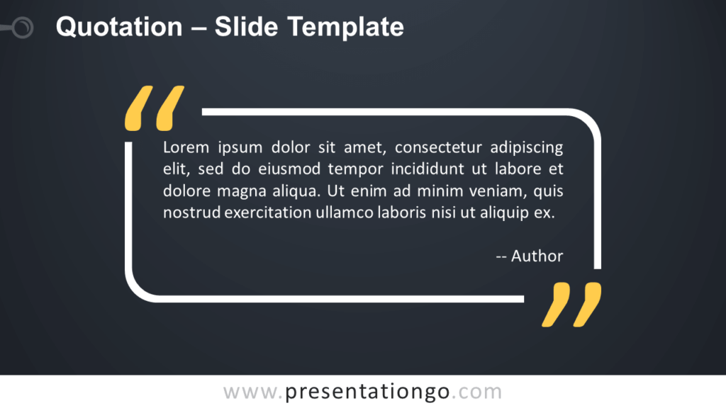Free Outlined Quotation for PowerPoint and Google Slides