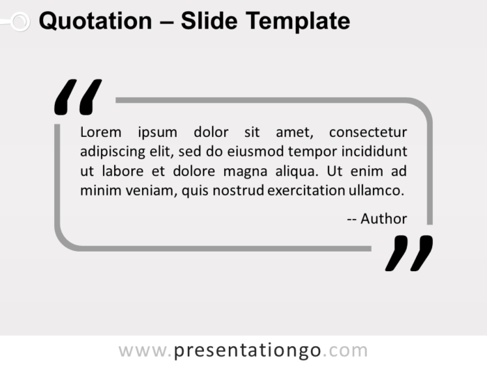 Free Outlined Quotation PowerPoint Template