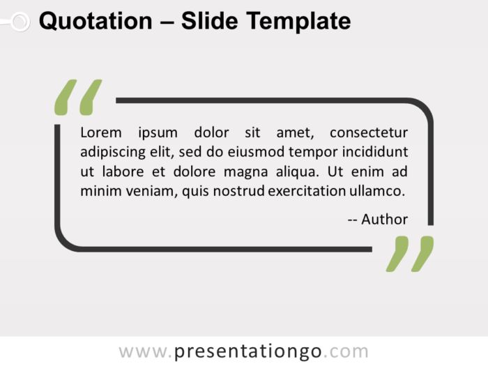 Free Outlined Quotation Template for PowerPoint