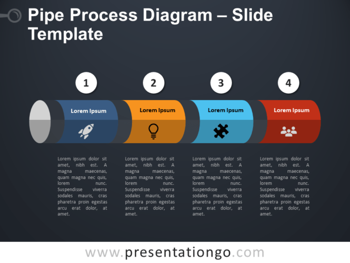 Free Pipe Process PowerPoint Template