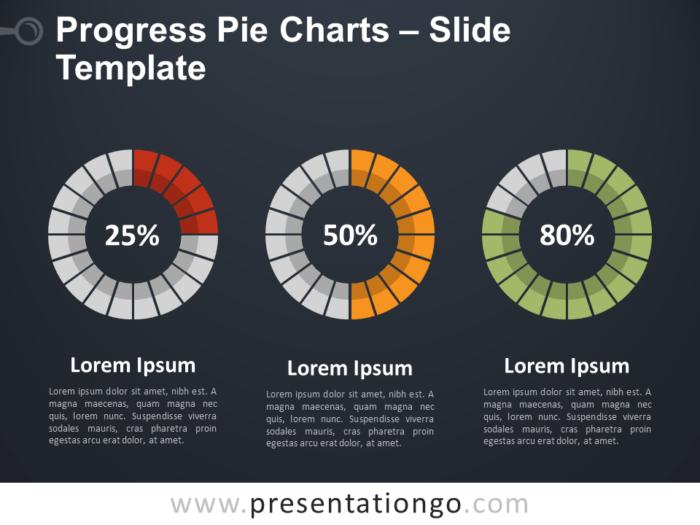 Free Progress Pie Chart for PowerPoint