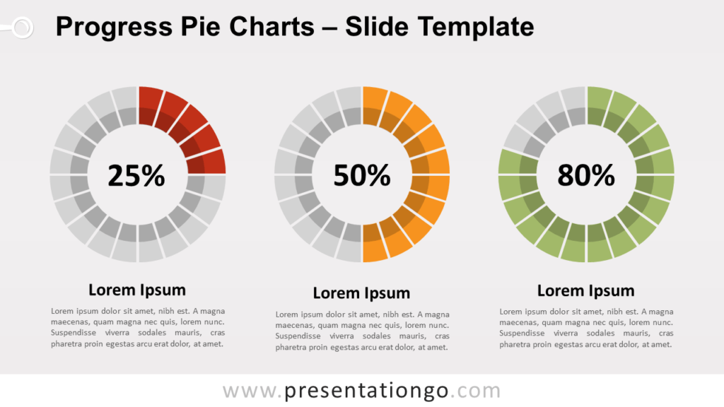 Free Progress Pie Charts for PowerPoint and Google Slides