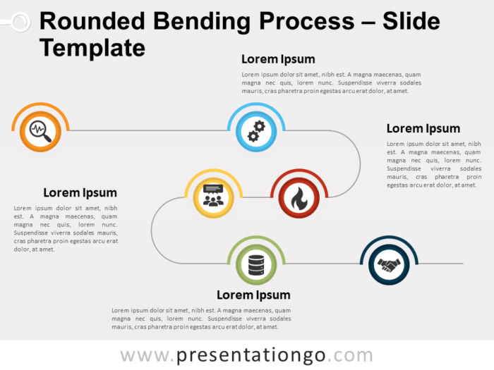 Free Rounded Bending Process for PowerPoint