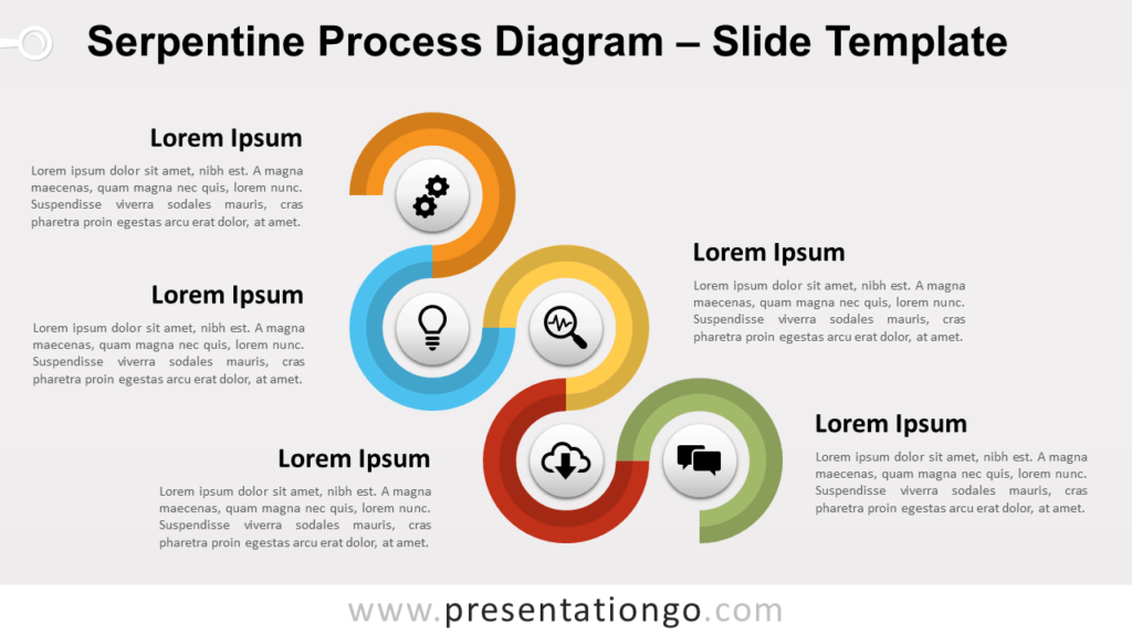 Free Serpentine Process for Diagram PowerPoint and Google Slides