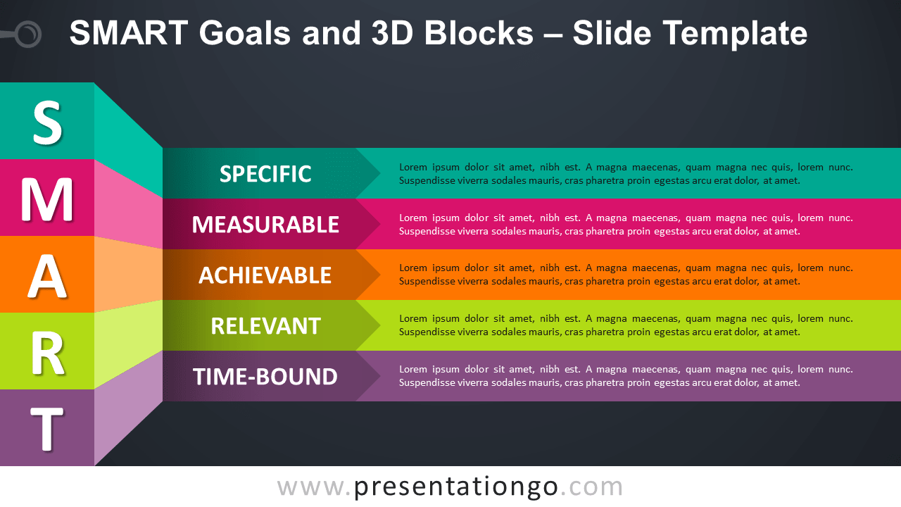 SMART Goals and 3D Blocks - Free PowerPoint and Google Slides Template