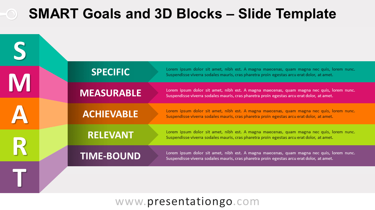 Free SMART Goals and 3D Blocks for PowerPoint and Google Slides