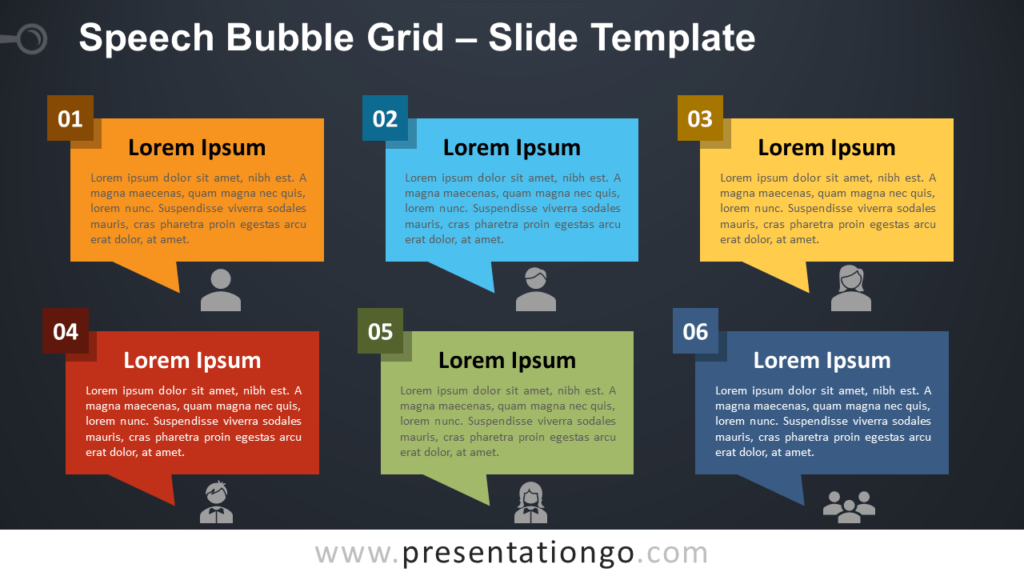 Speech Bubble Grid - Free PowerPoint and Google Slides Template