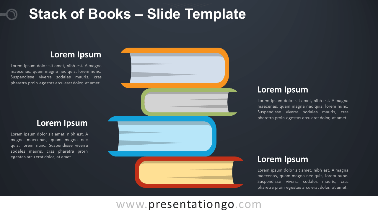 Free Stack of Books Infographic for PowerPoint and Google Slides
