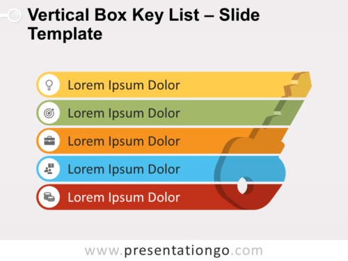 Free Vertical Box Key List for PowerPoint