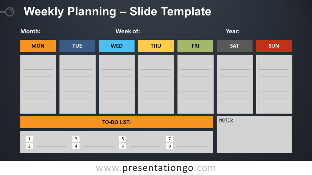 Weekly Planning - Free PowerPoint and Google Slides Template