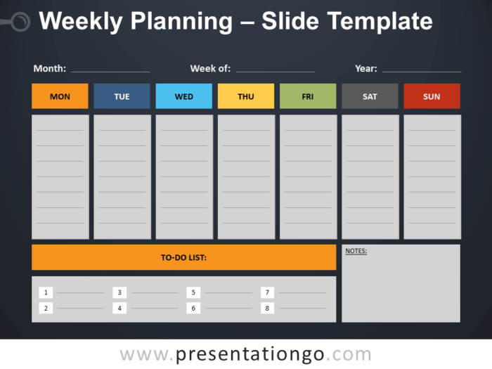 Free Weekly Planning PowerPoint Template
