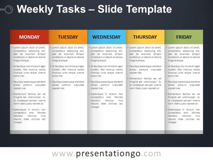 Free Weekly Tasks PowerPoint Template