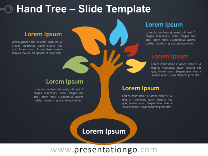 Free Hand Tree Infographic for PowerPoint