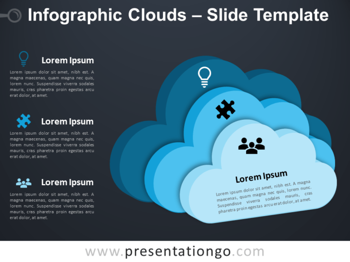 Free Infographic Clouds PowerPoint Template