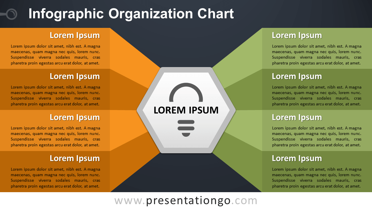 Infographic Organization Chart Template for PowerPoint and Google Slides