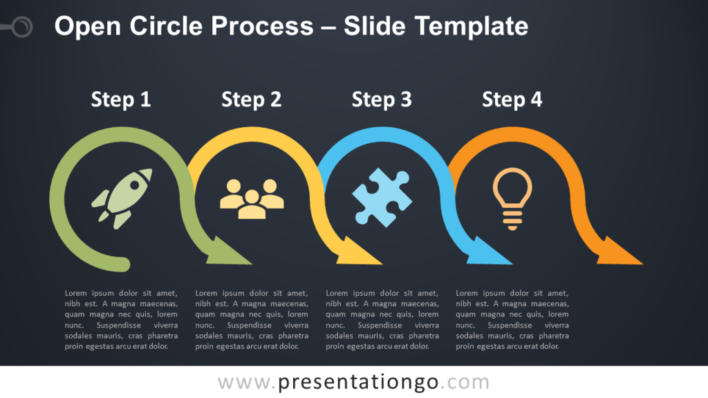 Free Open Circle Process Diagram for PowerPoint and Google Slides
