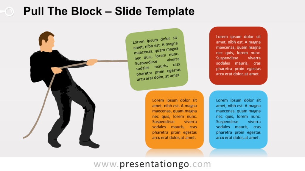 Free Pull The Block Infographic for PowerPoint and Google Slides