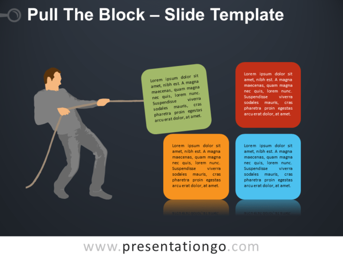 Free Pull The Block Silhouette for PowerPoint