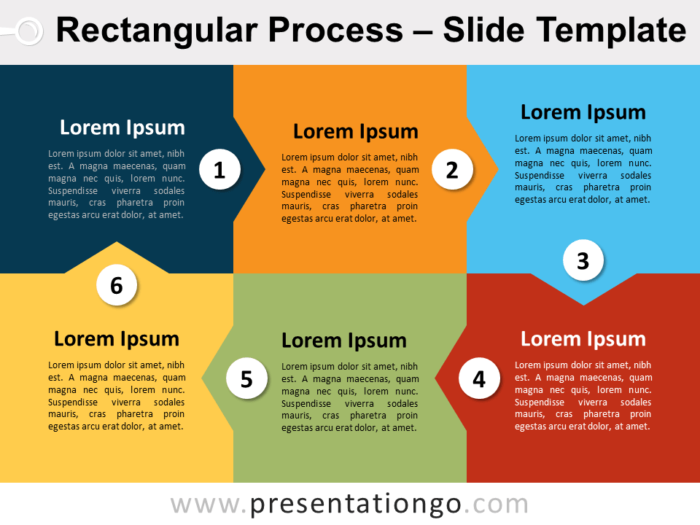 Free Rectangular Process for PowerPoint