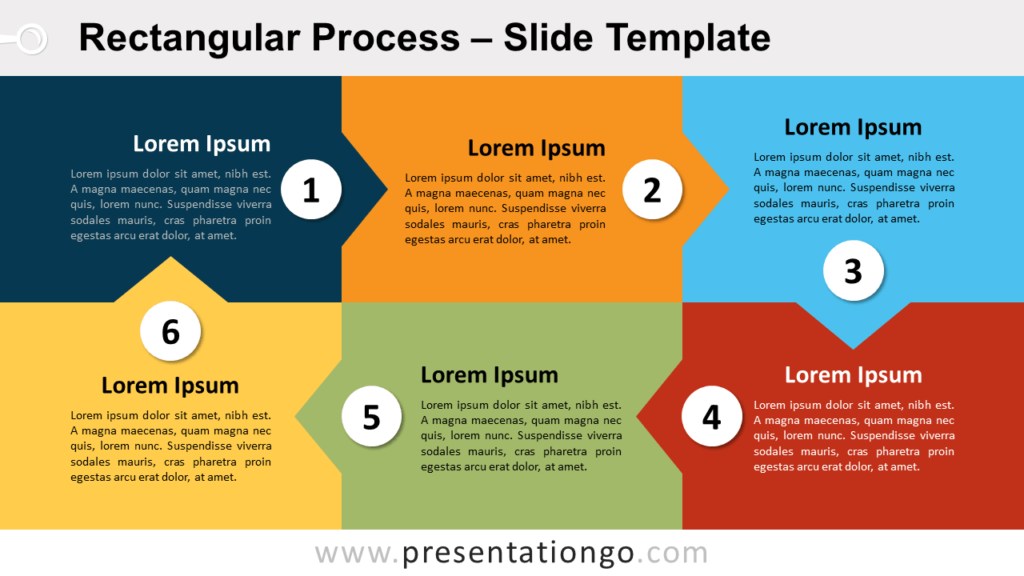 Free Rectangular Process for PowerPoint and Google Slides