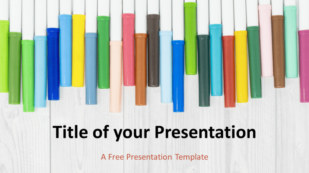 Free School Markers Template for PowerPoint and Google Slides