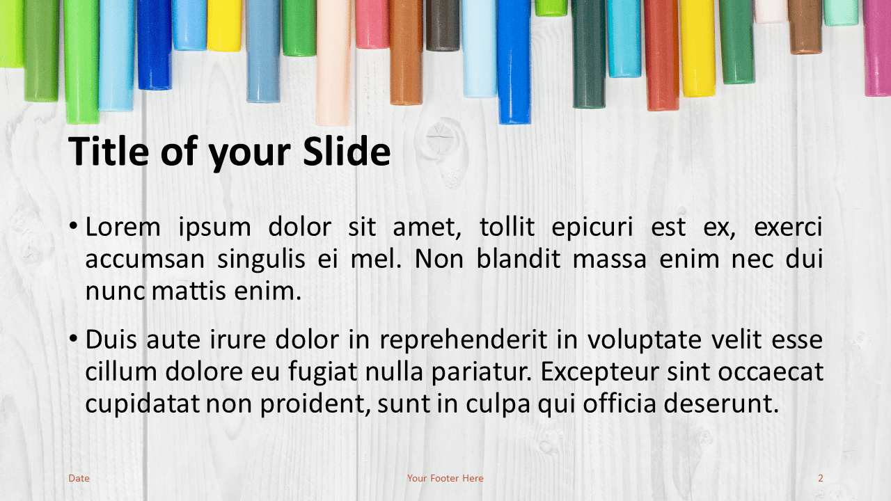 School Markers Template for PowerPoint and Google Slides - Slide 2