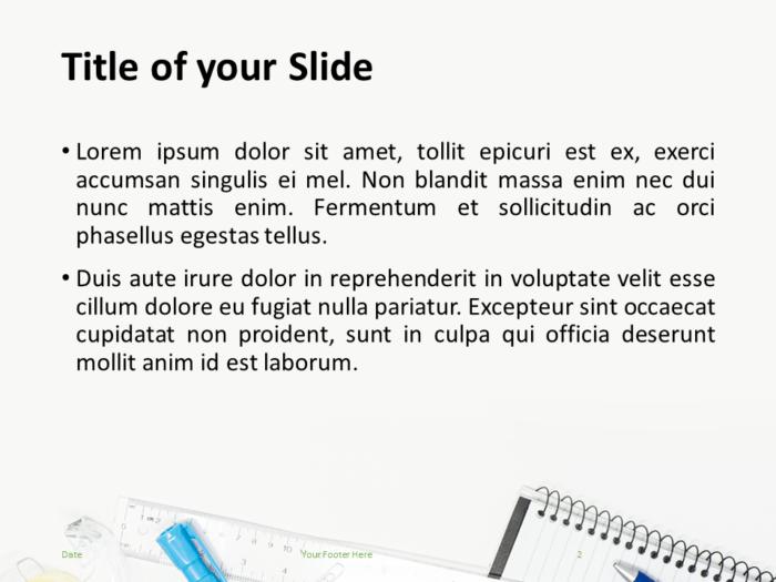 School Supplies Template for PowerPoint - Slide 2