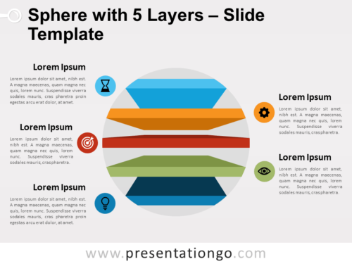 Free Sphere with 5 Layers for PowerPoint