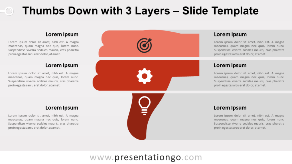 Free Thumbs Down with 3 Layers for PowerPoint and Google Slides