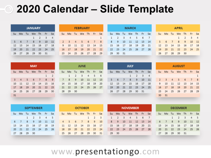 Free 2020 Calendar for PowerPoint