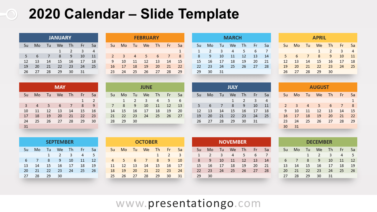 Free 2020 Calendar for PowerPoint and Google Slides