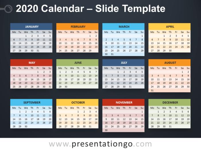 Free 2020 Calendar PowerPoint Template