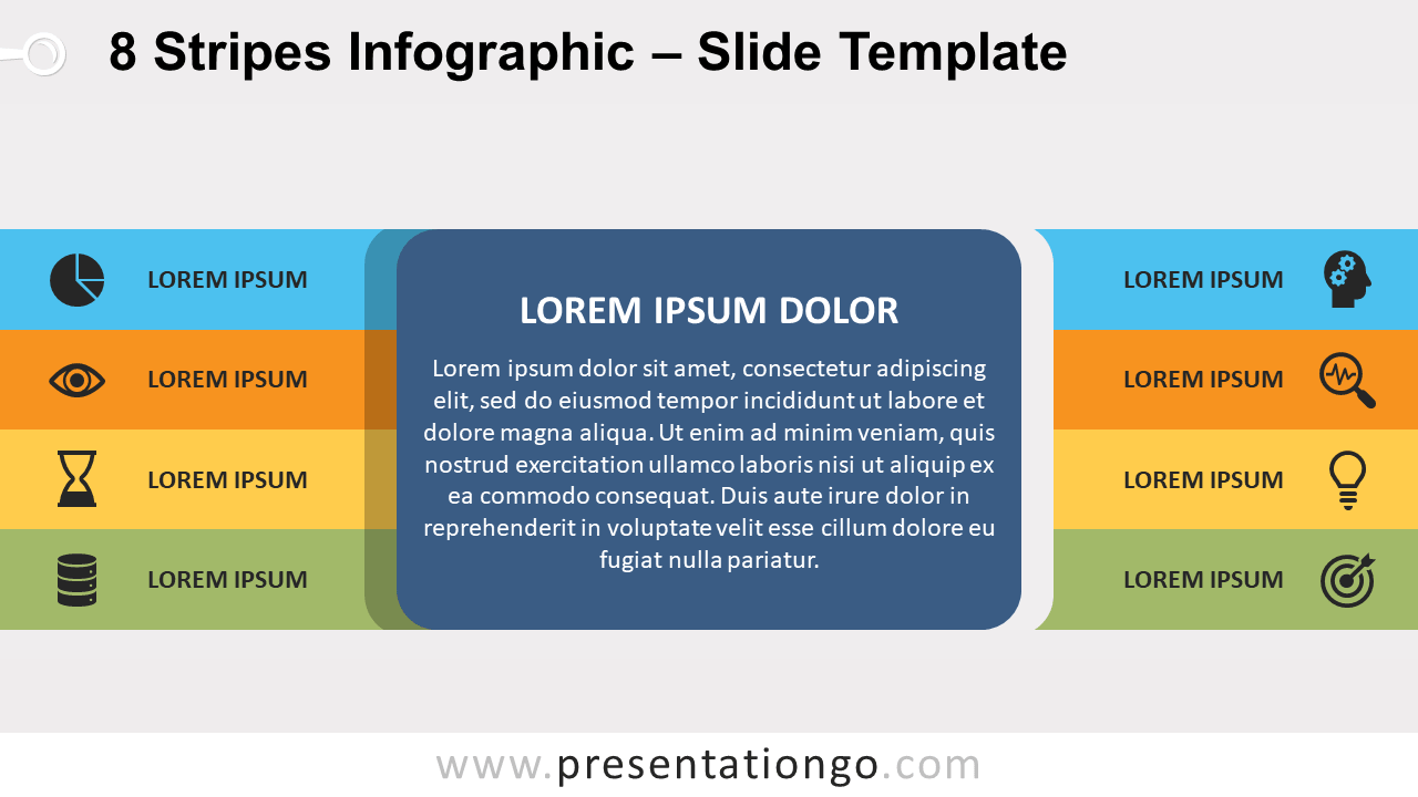 Free 8 Stripes Infographic for PowerPoint and Google Slides
