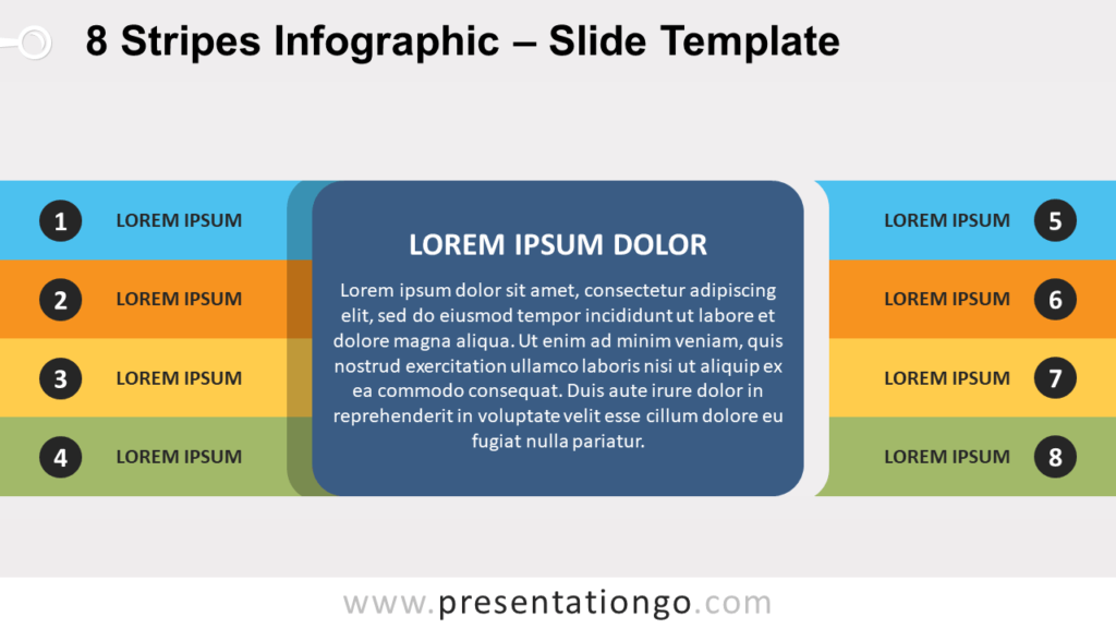 Free 8 Stripes Infographic Template for PowerPoint and Google Slides