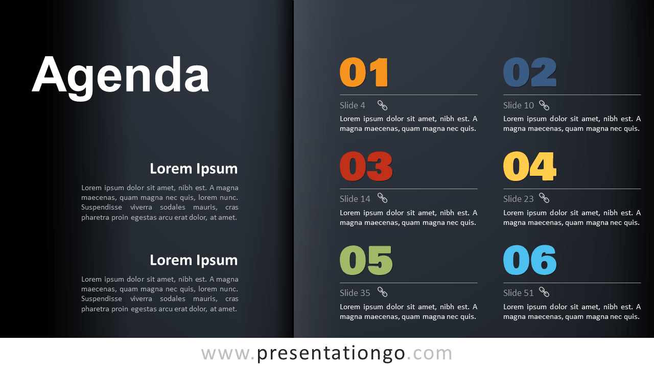 Free Agenda Template for PowerPoint and Google Slides