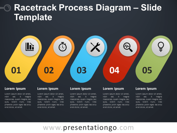 Free Racetrack Process Diagram for PowerPoint