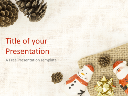 Free Santa, Snowman and Pinecones Template for PowerPoint