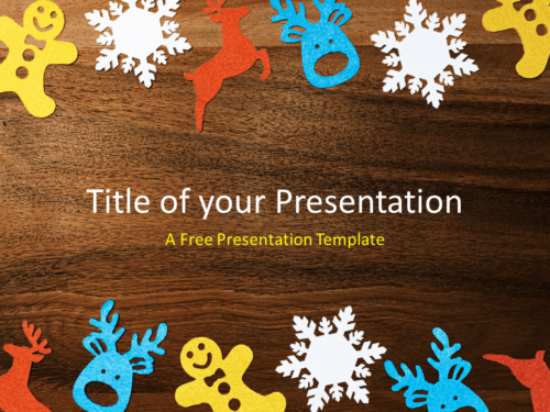 Free Winter Ornaments Template for PowerPoint