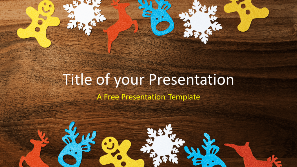 Free Winter Ornaments Template for PowerPoint and Google Slides
