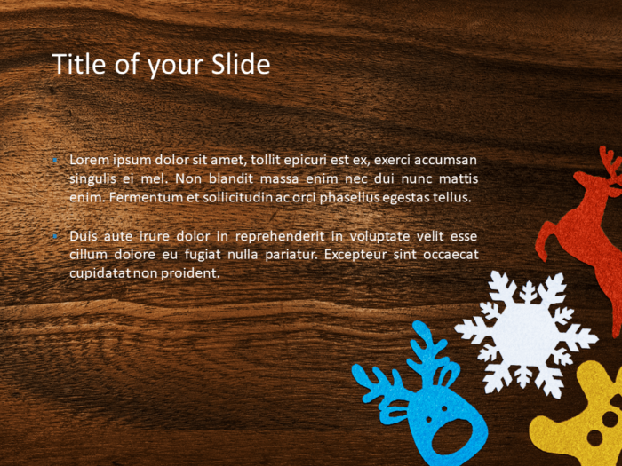 Winter Ornaments Template for PowerPoint - Slide 2