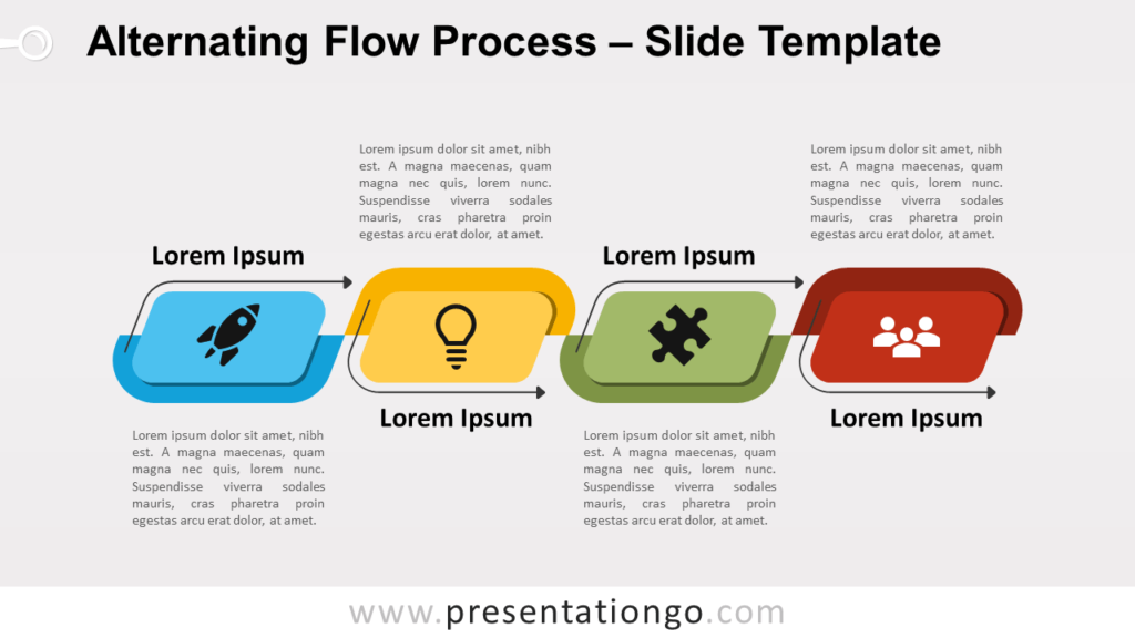 Free Alternating Flow Process for PowerPoint and Google Slides