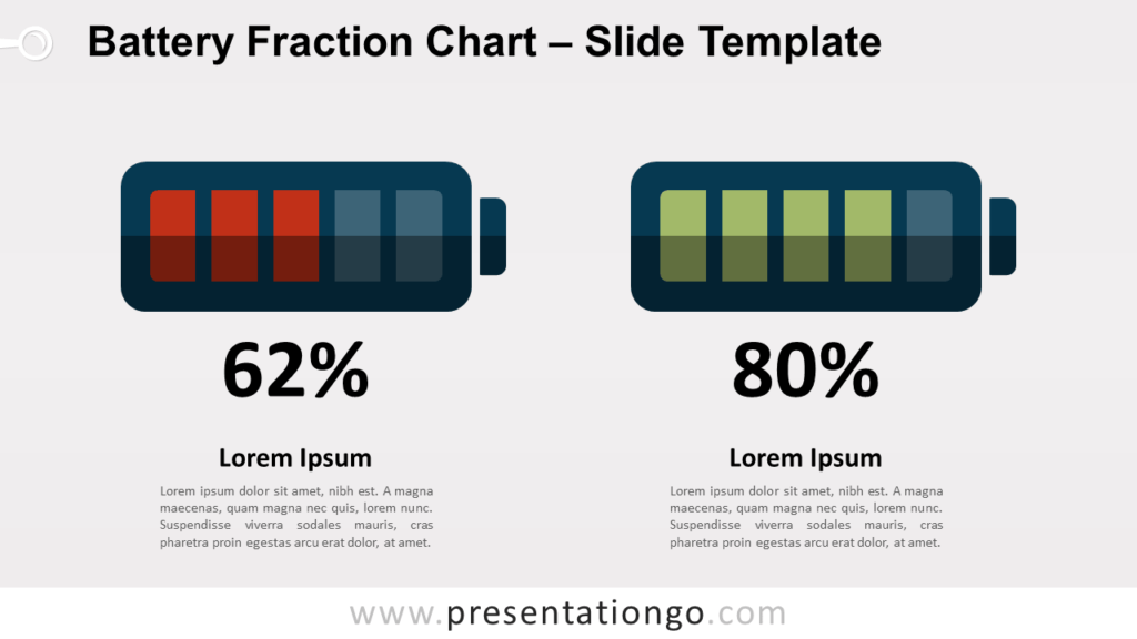 Free Battery Fraction Chart for PowerPoint and Google Slides