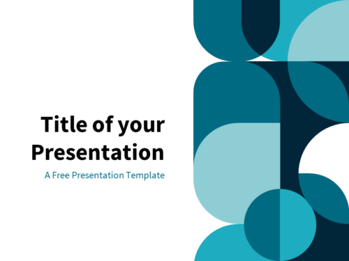 Blue - Free Abstract Geometry Template for PowerPoint