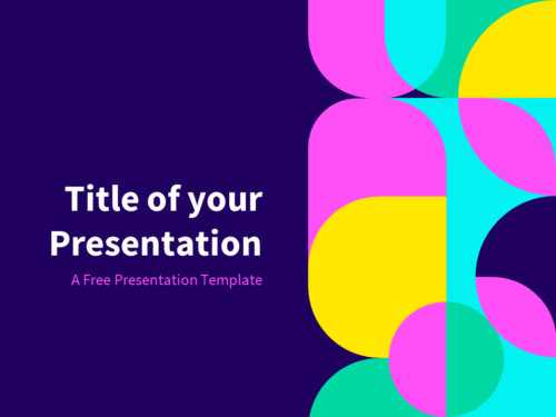 Eighties - Free Abstract Geometry Template for PowerPoint