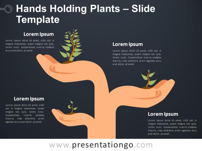 Hands Holding Plants - Metaphor for PowerPoint