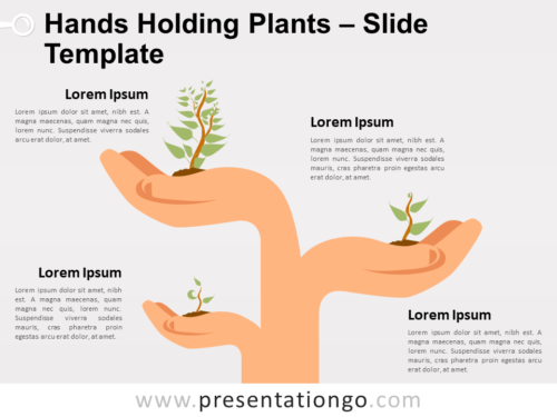 Free Hands Holding Plants for PowerPoint