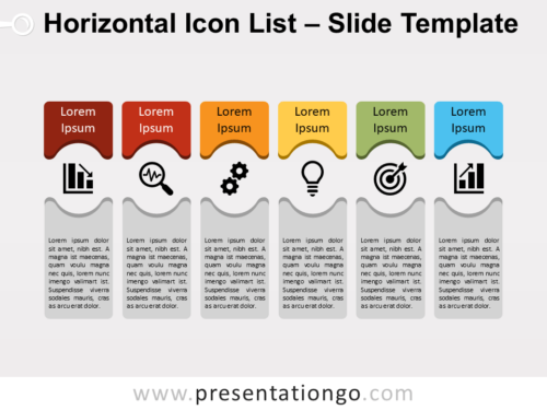 Free Horizontal Icon List for PowerPoint
