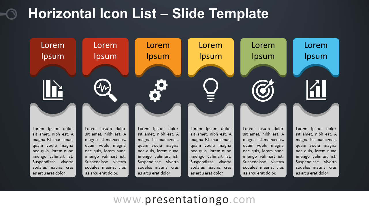 Free Horizontal List for PowerPoint and Google Slides