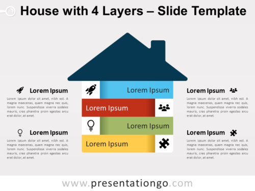 Free House with 4 Layers for PowerPoint